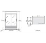GDM-47-LD - Üvegajtós hűtővitrin csúszó üvegajtókkal