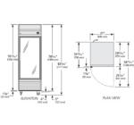 TS-23G-HC-LD - Rozsdamentes hűtővitrin