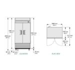 TS-35-HC-LD - Rozsdamentes hűtőszekrény