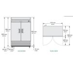 TS-49-HC-LD - Rozsdamentes hűtőszekrény
