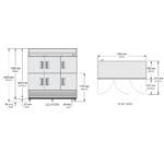 TS-72-6 - Rozsdamentes hűtőszekrény