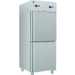 COMBI CC700 INOX - Kétlégterű teleajtós rozsdamentes hűtőszekrény