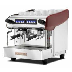 Expobar Megacrem Mini Control kétkaros kávéfőző (spanyol kávégép) piros
