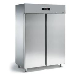 FD150T - Kétajtós rozsdamentes hűtőszekrény
