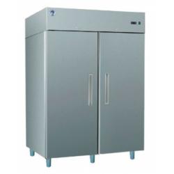 GASTRO F1400 INOX - Kétajtós rozsdamentes fagyasztószekrény