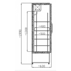 SCH 400 INOX - Teleajtós rozsdamentes hűtőszekrény
