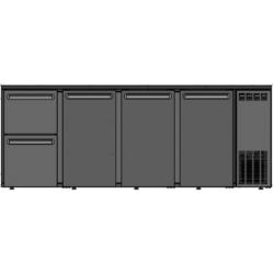 DCL-5222 MU/VS - 3 ajtós bárhűtő két különböző fiókkal