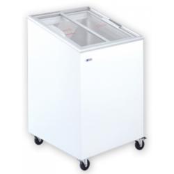 UDD 100 SCE Mélyhűtőláda ferde, csúszó üvegtetővel