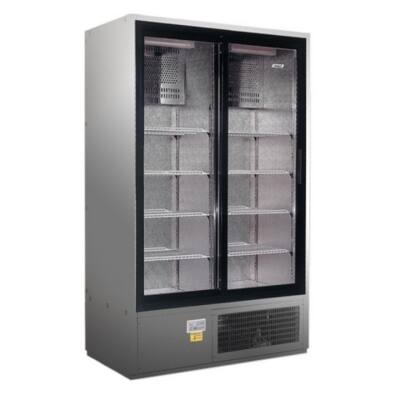 SCH 1400 R INOX - Csúszó üvegajtós, rozsdamentes hűtővitrin