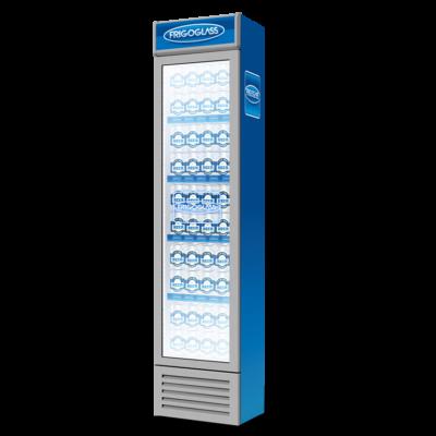 FRIGOGLASS HTT FLEX 130 típusú üvegajtós italhűtő világító reklámtetővel