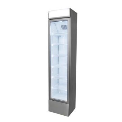 Frigoglass GCDC 130 típusú üvegajtós italhűtő világító reklámtetővel