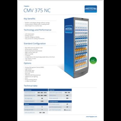 FRIGOGLASS CMV375 üvegajtós italhűtő (LED)