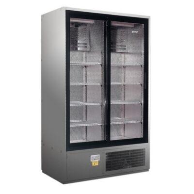 CC 1600 SGD (SCH 1400 R) INOX | Csúszó üvegajtós, rozsdamentes hűtővitrin